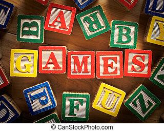 Games toy blocks