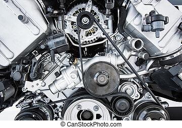 Car Engine - Modern powerful car engine(motor unit - clean...