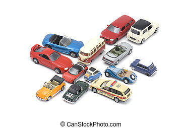 toy car closeup - object on white - model toy car