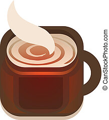 Cup of Coffee - vector illustration of hot coffee