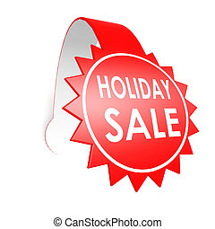 Holiday sale star label