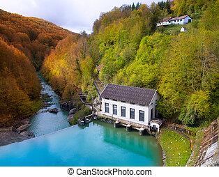 Irati Pantano de Irabia swamp in Navarra Pyrenees Spain -...