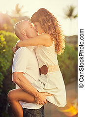 Happy couple in love - Happy romantic couple in love