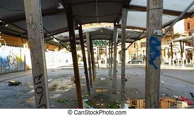 San Cosimato square market stall - San Cosimato square Open...
