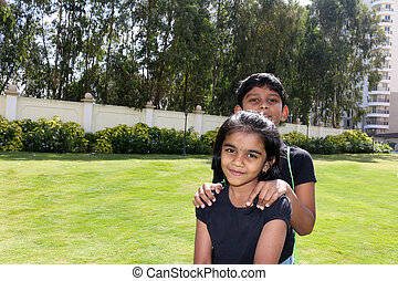 Asian indian cousins - Asian indian little cousins playing...