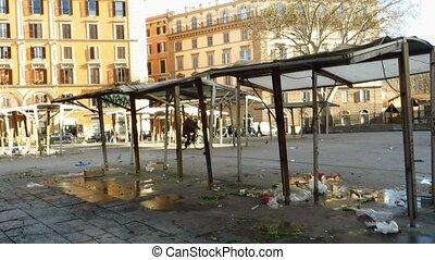 San Cosimato square market stall