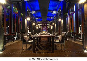 restaurant - Panoramic view of nice modern stylish hotel...