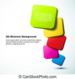 Colorful 3D rectangle background Vector illustration for...