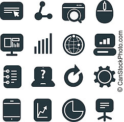 Different SEO icons set. Design elements
