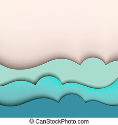 Sea background Vector illustration