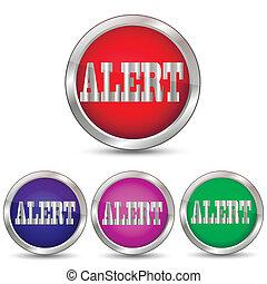 Alert alarm button vector