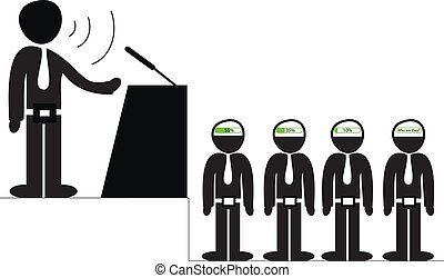 Orator speaking to the audience vector conceptual...