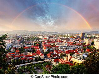 Ljubljana, capital city of slovenia