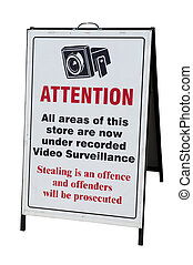CCTV warning Sign - Sign warning shop is under constant...