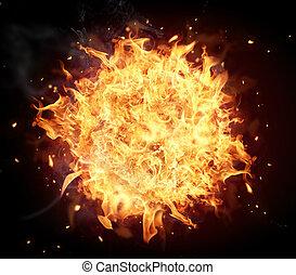 fogo, bola