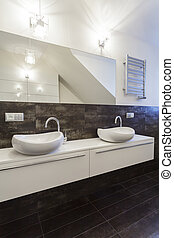 Grand design - countertop - Grand design - white bathroom...