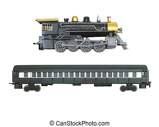 Toy Train - A toy train isolated against a white background