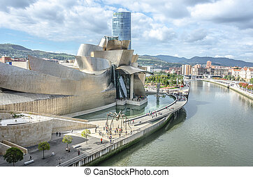 Guggenheim   -   The Guggenheim Museum in Bilbao  ,Spain.