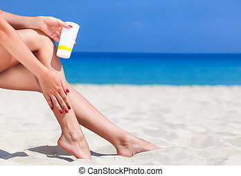 Sun protection for the legs