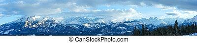 Winter mountain panorama (Slovakia, High Tatras).