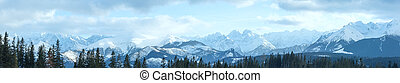 Winter mountain panorama (Slovakia, High Tatras). - Winter...