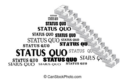 Status Quo words A vector illustration