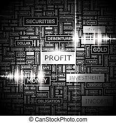PROFIT Concept illustration Graphic tag collection Wordcloud...