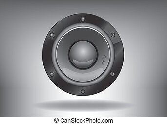 Sub-woofer - sabufer gray on a gray background with the...