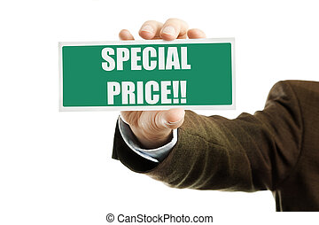 special price - business concept ,isolated on white...