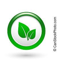 green leaf sign