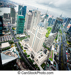 Lujiazui Financial Center - view from the Oriental Pearl TV...