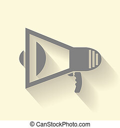 megaphone icon - Megaphone icon with shadow effect. Isolated...