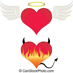 Angel/devil heart