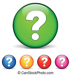 question icons - vector illustration of question icons on...