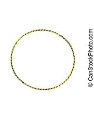 Hula Hoop - A hula hoop isolated against a white background