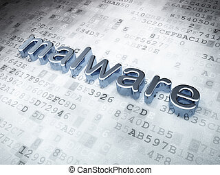 Safety concept: Silver Malware on digital background, 3d...