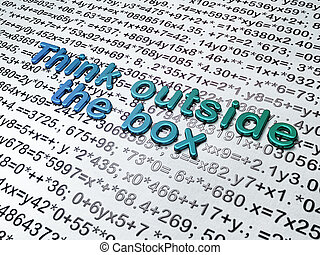 Education concept: Think outside The box on Education...