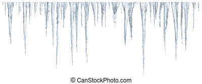 Icicles set on white background - Set of icicles on white...