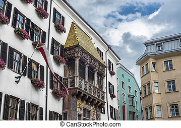 The Golden Roof in Innsbruck, Austria. - The Goldenes Dachl...