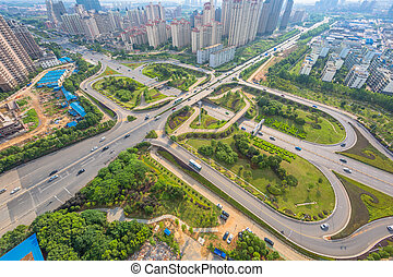 City Scape of nanchang city at china