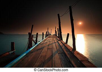 Footbridge  - Footbridge; long exposure