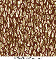 Tree bark texture. Seamless vector background. - Seamless...
