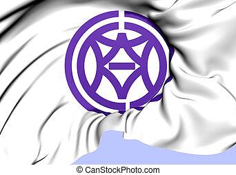 Flag of Shimizu-ku, Japan. Close up.