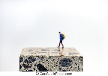 Walking on cube