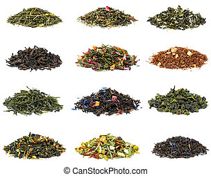 Set of tea - Set of black and green tea with additives