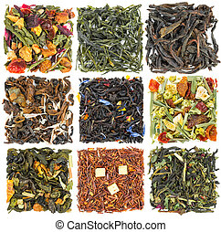 Set of tea with additives - Set of black and green tea with...