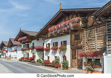 Village of Mutters near Innsbruck, Austria. - Architectural...
