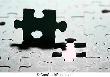 puzzle combined objects macro close up