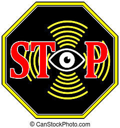 Stop Surveilance - Concept of securing privacy and data...