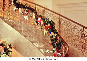 decorated staircase